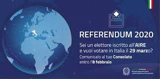 REFERENDUM 29 MARZO 2020